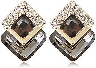 c52552c36 Shining Diva Fashion 18K Gold Plated Crystal Stud Earrings For Women & Girls
