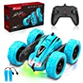 TECBOSS Remote Control Car, 360° Spin Flip 2 Sided Running RC Stunt Car 10 MPH 2.4 Ghz 4WD All Terrain Off Road RC Car Toys for 6 7 8 9 10 11 12 Year Old Boys from TECBOSS