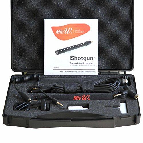 MicW iShotgun Kit mit Mini-Richtmikrofon und umfangreichen Zubehör für Mobile Geräte