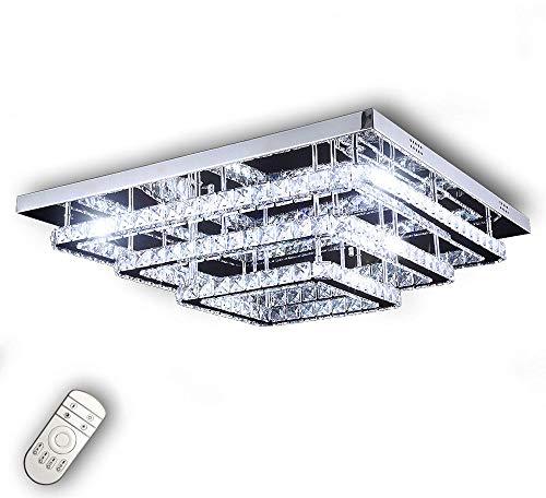 Dimmerabile LED plafoniera lampadario luce colore regolabile bianco caldo neutro freddo telecomando 70x70cm Lewima Amperus