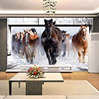 カスタム3D大きな壁画の壁紙リビングルームの寝室のテレビソファの背景の壁紙ギャロッピング馬を覆う壁-300x210cm