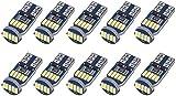 SanGlory 10 x T10 W5W LED Canbus Bombillas, 15 SMD 4014 LED T10 Bombilla Exteriores 6000K Luz Coche trasera, T10 Coche Interior Luces Matricula Posicion Laterales Iluminación Bombilla - Blanco 12V