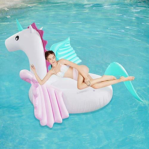 Anillo de natación Airbeds Natación Cama Inflable Agua Cama Flotante Barco Adulto Natación Air Cojín Caramelo Pegasus Inflable Agua WTZ012