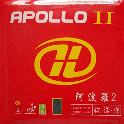 Great Price! YINHE Apollo II (Factory Tuned) Pips-in Table Tennis Rubber with Sponge (Black)