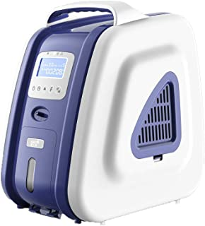 COXTOD Large Screen Portable Oxygen Concentrator for Travel,1-5L/min Adjustable Portable Oxygen Machine for Home Use, AC 110V Air Humidifiers - Blue