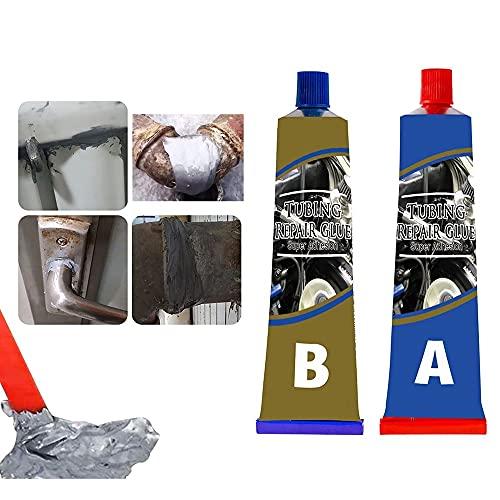 Pega de reparación de metal Resistente al calor Soldadura en frío Agente de reparación de pegamento, 20 g / 50 g / 80 g / 100 g Pegamento de soldadura de secado rápido para metal, plástico y PVC, conc