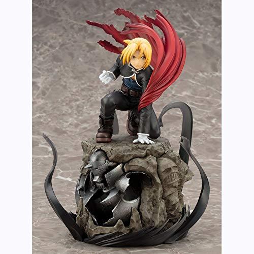 KPSHY Fullmetal Alchemist Anime Edward Elric Alphonse Figura Muñecas Decoración Versión Premium Estatua Muñeca Escultura Juguete Decoración Modelo Muñeca Altura 22cm