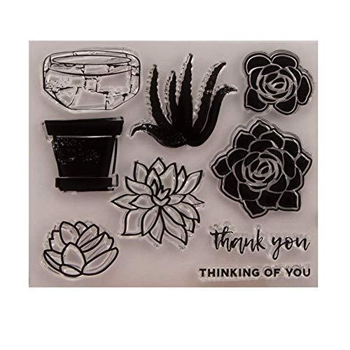 DIY uw eigen cactus dank u denken van u duidelijke stempels duidelijke stempel/Seal Scrapbook/foto decoratieve kaart maken duidelijk stempel