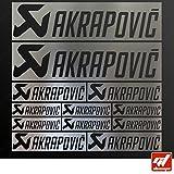 Brett 12Sticker Aufkleber Akrapovic Auspuff Anlage–Chrom–Sticker, selbstklebend,...