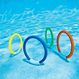 Swimming Sticks Toy, Bright Color Smooth Edge Fun Pool Dive Rings for Kids Teens for Training for Improve Diving Skills