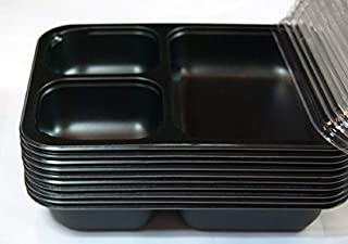 Frozen & Fabulous OVEN-SAFE 3-Compartment Meal Prep Containers by Frozen & Fabulous: OVEN-Freezer-Microwave-Safe PORTION-CONTROL for FOOD PREP ~freezer-to-oven~ SIZE: Single Serving SET OF 10