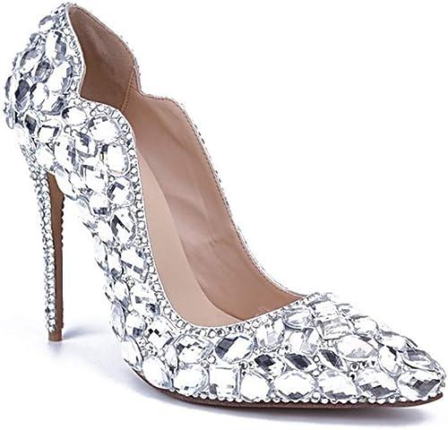 Chaussures pour femmes Printemps Eté Confort Nouveauté Talons Chaussures de marche Bijoux Talon Brillant Talon Brillant Strass Brillant Strass Chaussures de mariage Chaussures de mariage Chaussures de