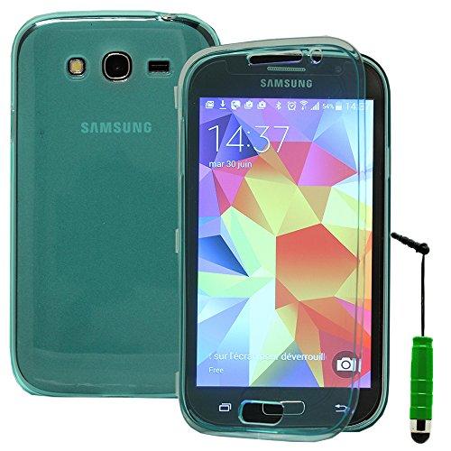 VComp-Shop® - Custodia protettiva in silicone per Samsung Galaxy Grand Plus/ Neo/Lite + Mini pennino capacitivo, colore: Verde
