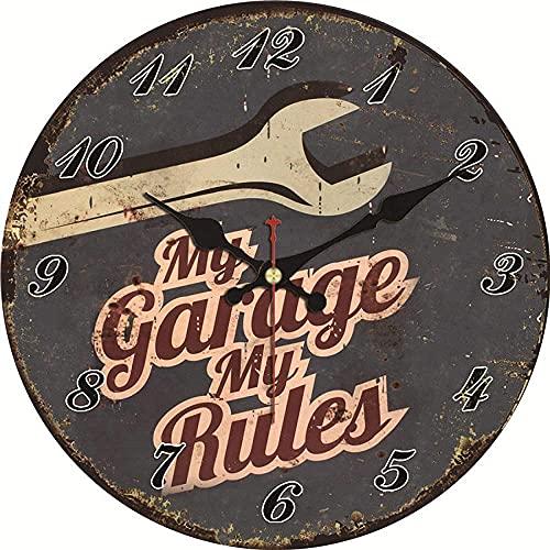 Gran decoración reloj de pared shabby chic diseño reloj decoración casera oficina cafetería cocina pared relojes silencioso reloj de pared arte vintage gran reloj de pared fácil de leer para la decora
