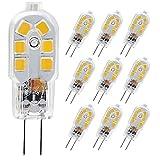 SumVibe G4 LED Bulb, 20W Halogen Bulb Replacement, 2 Watt G4 Bulbs Bi-Pin Base, AC/DC 12 Volt Daylight White 6000K, Non-Dimmable, 10-Pack