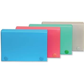 1InTheOffice Index Card Case 3 x 5 Index Card Holder Assorted Colors4 Pack