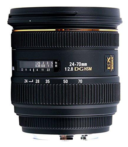 Sigma 24-70mm F2.8 IF EX DG HSM - Objetivo para Canon (Distancia Focal 24-70mm, Apertura f/2.8-22, Zoom óptico 3X, diámetro Filtro: 88.6mm) Color Negro