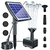 Biling Solar Bird Bath Fountain with Panel, 2020 Upgrade Solar Fountain Water Pump Kit, Solar Powered Fountain Pump outdoor for Bird Bath Pond Garden Pool Fish Tank Aquarium
