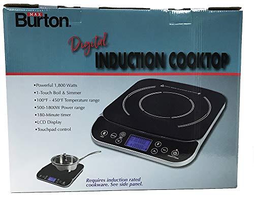 Product Image 7: Max Burton #6450 Digital LCD 1800 Watt Induction Cooktop Counter Top Burner
