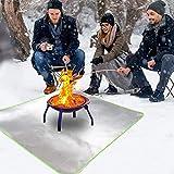 FMXYMC Alfombrilla para fogatas para Acampar al Aire Libre, Alfombrilla para fogatas en el Patio, Alfombrilla a Prueba de Fuego,19.69 * 31.50 inch/50 * 80cm