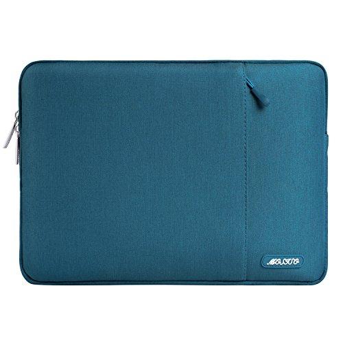 MOSISO Funda Protectora Compatible con 13-13.3 Pulgadas MacBook Air/MacBook Pro/Ordenador Portátil, Bolsa Blanda de Repelente de Agua de Estilo Vertical,Trullo Profundo