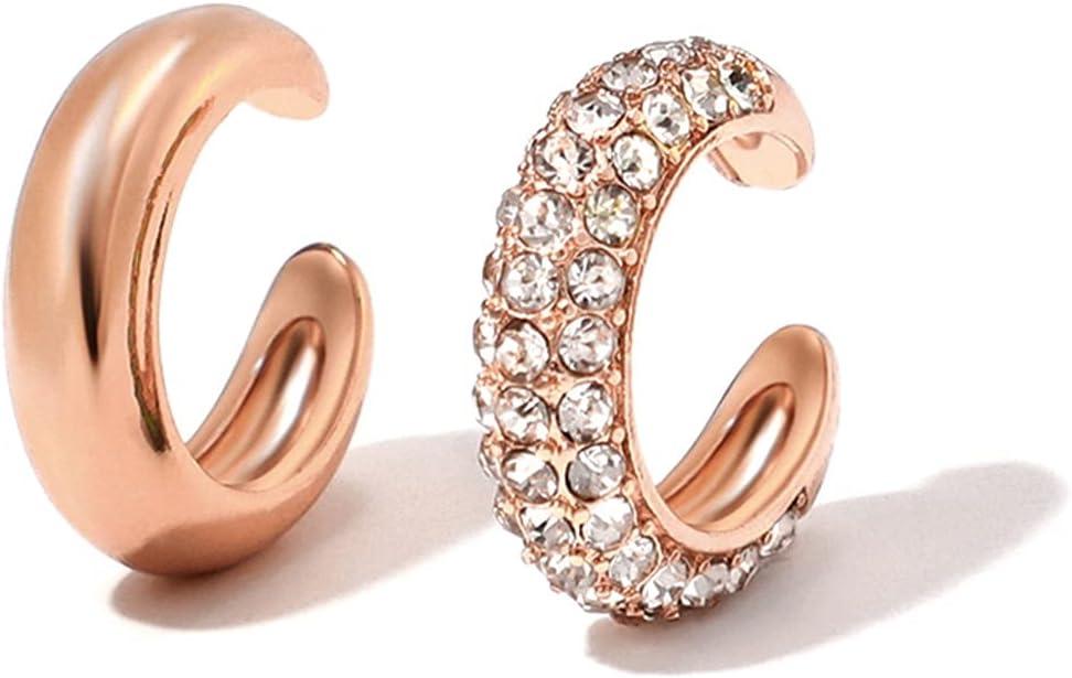 SYBLD Fashion Pearl Earrings, Small Earrings, Clip-on Earrings, Women's Wedding Jewelry (Metal Color : 2pcs Style 23)