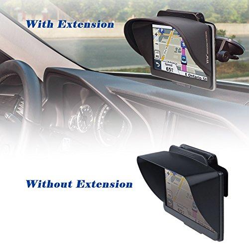 TFY GPS Sonnenblende für Navigationsgeräte mit flexibler Visiererweiterung für das Garmin Nüvi 2797LMT 7 Zoll, portable sowie andere 7 Zoll Navigationsgeräte