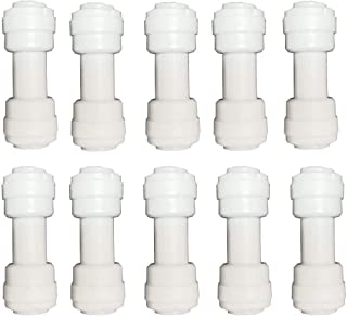 Malida 1/4 inch OD Tube Push fit Straight Quick Connect for Water purifiers (10 Pack)