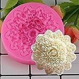 FEINIAO Mujiang Rose Flor de Encaje de Silicona Molde de Silicona Fondant Pastel de decoración de moldes de Chocolate Moldes de Caramelo 3D Moldes de jabón Artesanal