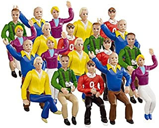 Carrera Race Spectators - Set of 20 Seated Race Fans - 1:32 Scale Figures - Realistic Scenery Accessory for Slot Car Track Sets