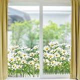 Adesivo Per Finestre Adesivi Murali Girovita Vinile Fai Da Te Rapido Rimuovi Facilmente Daisy Flower Home Decoration Per Windows Specchio A Parete