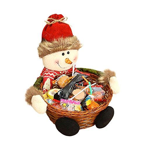 HuntGold Weihnachtszuckerstange Korb Geschenk Ornamente Dekor Schneemann