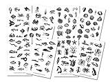 Vintage Meer Sticker Set | Aufkleber Maritim | Journal Sticker | Sticker Fische | Planer Sticker