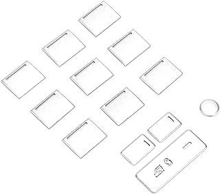 Decalque de botão de elevação de janela, resistente, prático, 13 peças/conjunto de adesivos para interruptor de elevação d...