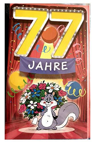 Geburtstagskarte 77 Jahre