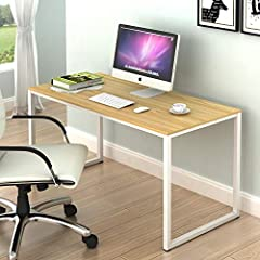 "Morden design: Great for home office, studio, bedroom and also kitchen as a dinning table Material: steel frame, powder coated finish, Environmental particle board. Easy to Assembly, step by step instruction and hardwares included. Dimension: 48"" W x..."