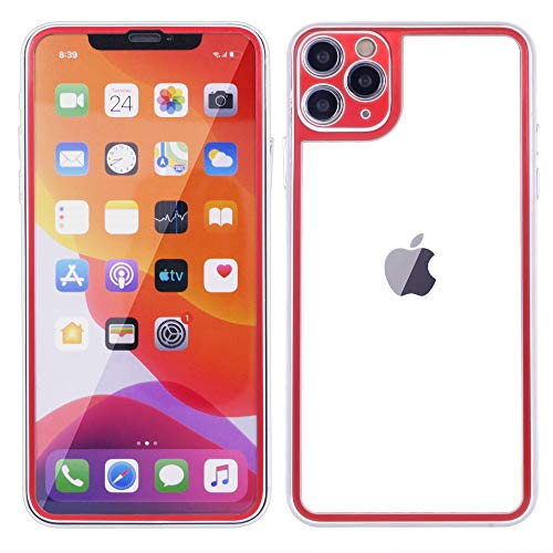 iPhone 11 Glass, DMaos Full Screen Glass and Back Cover 2 Pieces 3D Coverage Tempered Guard with Camera Cover, Premium for iPhone11 6.1 inch 2019 - Red