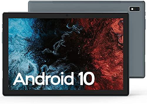 Tablet 10.1 Zoll Android 10, VASTKING K10, Tablett PC mit 3GB RAM+32GB ROM, 512GB Erweiterbar, Octa-Core 1.8Ghz, FHD 1920 * 1200 IPS, 13MP + 5MP Kamera, 6000mAh, WiFi, Face ID, GPS, BT5.0 (Grau)