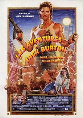 Affiche Cinéma Originale Grand Format - Les Aventures De Jack Burton Dans Les Griffes Du Mandarin (format 120 x 160 cm pliée) Réédition 2018