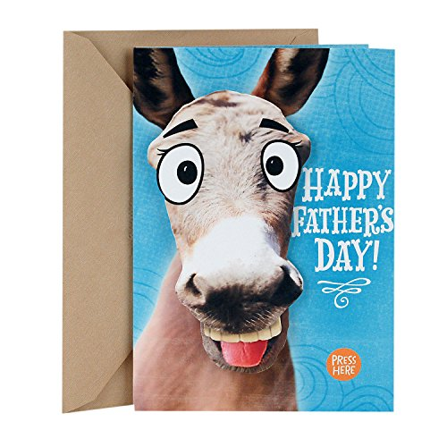 Hallmark Funny Father's Day Card With Sound and Motion (Smart Ass Donkey)
