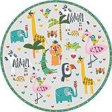 vilber Kids Selva Color 50 Alfombra Vinilo Infantil Animales Selva.3330 DU-50. Redonda. Diámetro 97...
