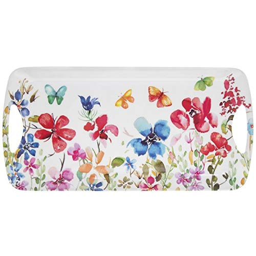 The Leonardo Collection Butterfly Meadow - Bandeja para sándwich (39 cm), diseño floral
