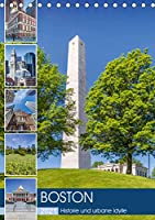 BOSTON Historie und urbane Idylle (Tischkalender 2021 DIN A5 hoch): Sehenswuerdigkeiten und Wahrzeichen (Monatskalender, 14 Seiten )