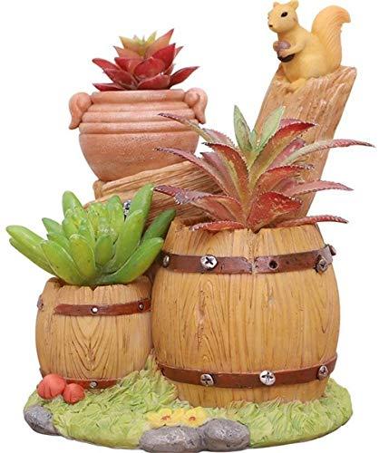 ZMHS Jardinera de Resina Multicapa, contenedor de jardín, suculentas, exhibición de Plantas, Maceta, decoración de Escritorio, Plantas en macetas pequeñas, jardinería Familiar, Maceta