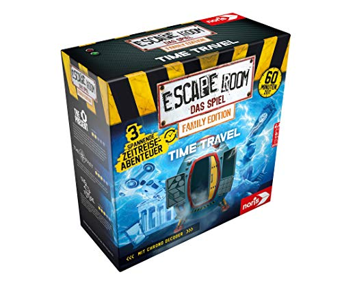 Noris 606101968 - Escape Room Time Travel (Family Edition) - Familien und Gesellschaftsspiel für Erwachsene und Kinder, inkl. 3 Fällen und Chrono Decoder, ab 10 Jahren
