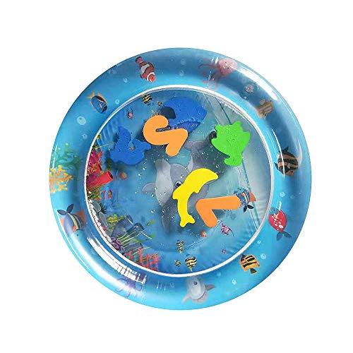 Moonvvin Cojín inflable de la colchoneta del agua del bebé divertido centro de juego para niños y bebés