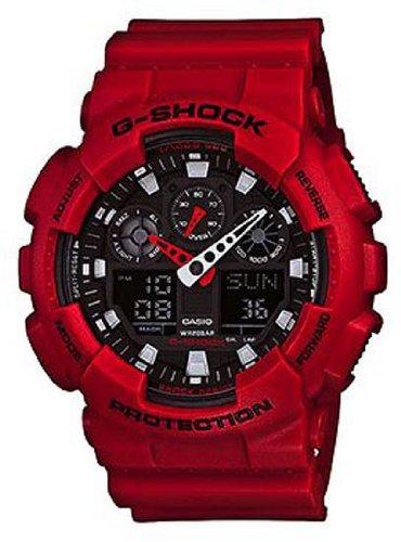 Casio GA-100B-4AER - Reloj (Reloj de pulsera, Masculino, Polímero, Rojo, Polímero, Rojo)