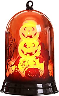 youeneom Halloween Lighted Lamp, Battery Operated Glittering Flameless Candles Table Centerpiece for Halloween Celebration Parties, Ghost
