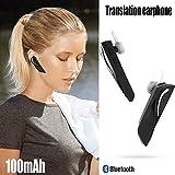 JINLO Wireless Bluetooth Voz En Tiempo Real Headset Auriculares Traductores Mismo Tiempo para Comerc...
