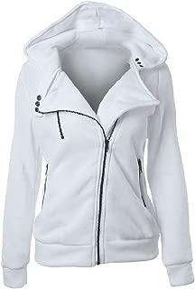 Mogogo Women's Solid Casual Fleece Zip Long Sleeve Hoode Pocket Outwear Jacket